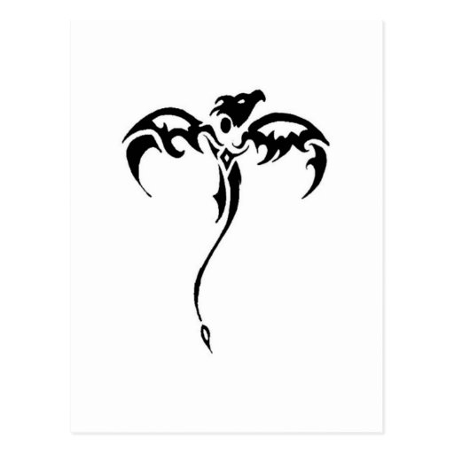 Tatuaje tribal del dragón postal
