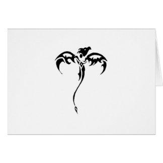 Tatuaje tribal del dragón tarjeta de felicitación