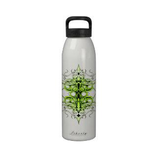 Tatuaje tribal del imperio - verde botellas de agua reutilizables