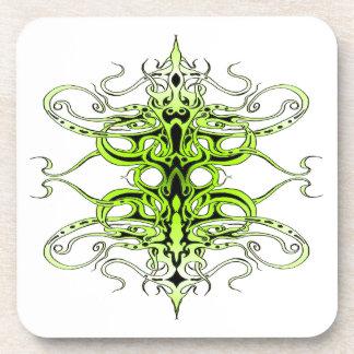 Tatuaje tribal del imperio - verde posavasos de bebida