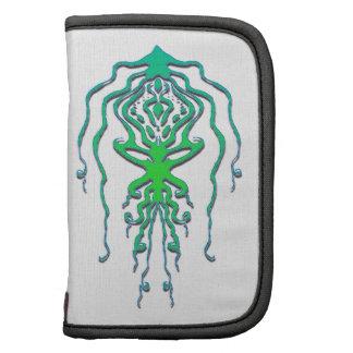 Tatuaje tribal del pulpo del calamar - verde planificador