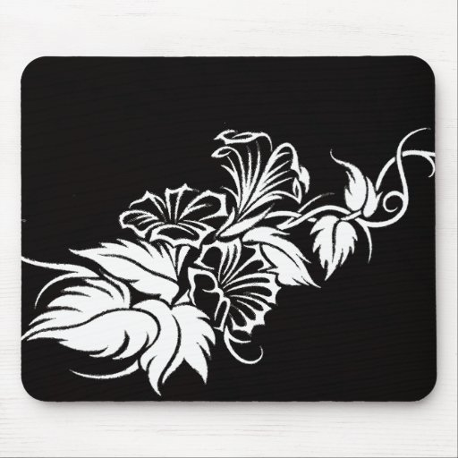 tatuaje tribal floral de la vid tapete de ratones
