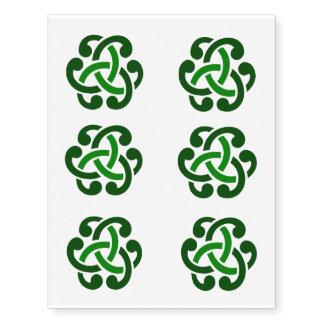 Tatuajes célticos irlandeses verdes del nudo tatuajes temporales