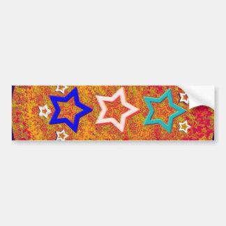 tatuajes de cinco estrellas - un diverso estilo pegatina de parachoque