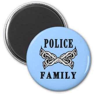 Tatuajes de la familia de la policía iman de frigorífico