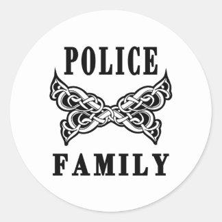 Tatuajes de la familia de la policía pegatina redonda