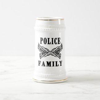 Tatuajes de la familia de la policía tazas
