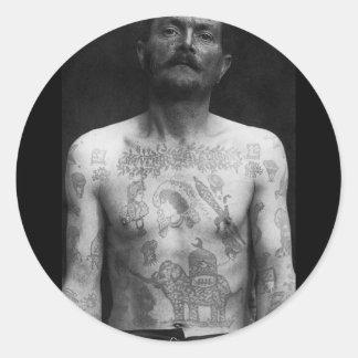 Tatuajes de la prisión pegatinas redondas