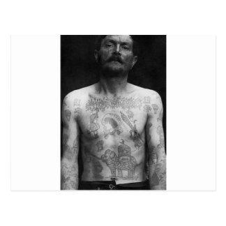 Tatuajes de la prisión tarjeta postal
