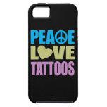 Tatuajes del amor de la paz iPhone 5 Case-Mate cárcasas