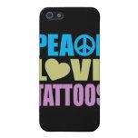Tatuajes del amor de la paz iPhone 5 cárcasas