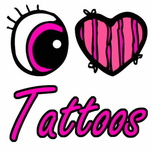 Tatuajes del amor del corazón I del ojo de Emo Llavero Fotográfico