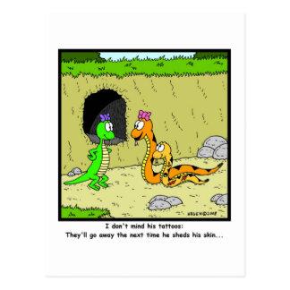 Tatuajes: Dibujo animado de la serpiente Tarjeta Postal