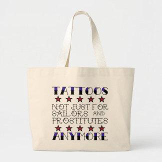 Tatuajes no para los marineros y las prostitutas bolsa tela grande