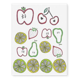Tatuajes temporales de la fruta
