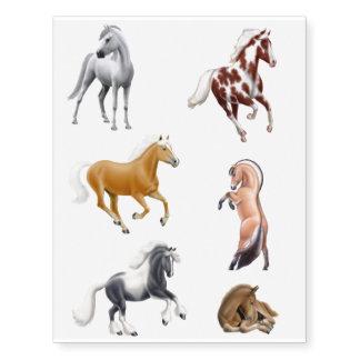 Tatuajes temporales de los amantes del caballo