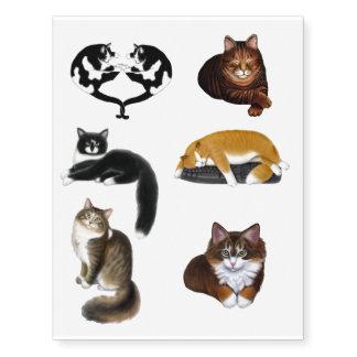 Tatuajes temporales de los amantes del gato del