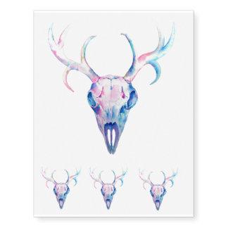 Tatuajes temporales del cráneo de los ciervos de