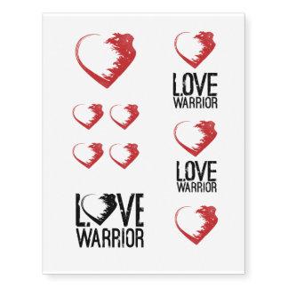 Tatuajes temporales del guerrero del amor