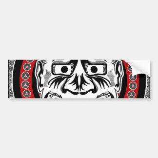 Tatuajes tribales con diseño tribal de la máscara etiqueta de parachoque