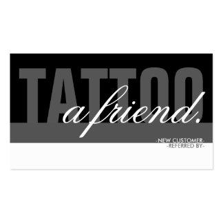 tatúe una capa del amigo tarjetas de visita