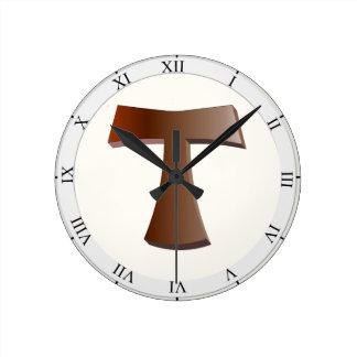 Tau Cross Round Clock