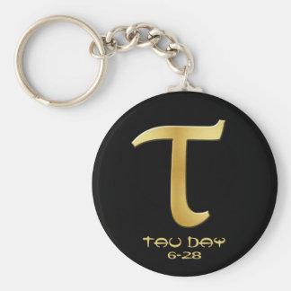 Tau Day - Gold Greek Symbol Keychain