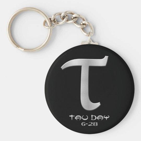 Tau Day Silver Greek Symbol Keychain Zazzle
