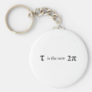 Tau is the new Pi Basic Round Button Keychain