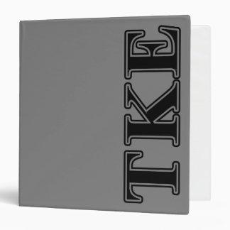 Tau Kappa Epsilon Black Letters 3 Ring Binder
