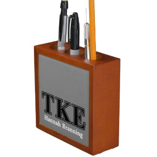 Tau Kappa Epsilon Black Letters Desk Organizers