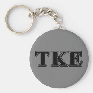 Tau Kappa Epsilon Black Letters Keychain