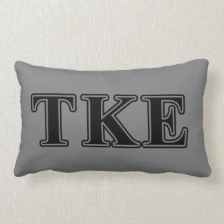 Tau Kappa Epsilon Black Letters Lumbar Pillow