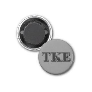 Tau Kappa Epsilon Black Letters Magnet