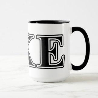 Tau Kappa Epsilon Black Letters Mug