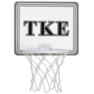 Tau Kappa Epsilon Black Letters Mini Basketball Backboards
