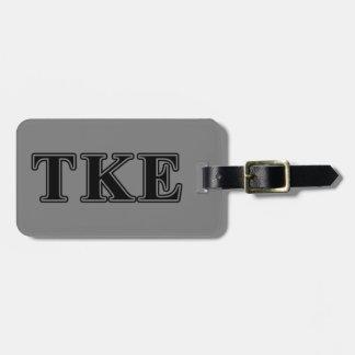 Tau Kappa Epsilon Black Letters Tags For Bags