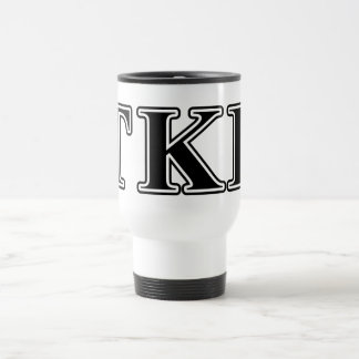 Tau Kappa Epsilon Black Letters Travel Mug