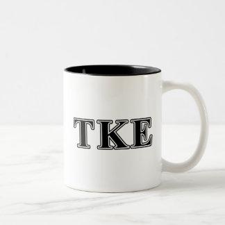 Tau Kappa Epsilon Black Letters Two-Tone Coffee Mug