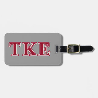 Tau Kappa Epsilon Red Letters Bag Tags