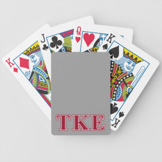 Tau Kappa Epsilon Red Letters Bicycle Playing Cards
