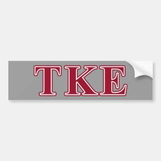 Tau Kappa Epsilon Red Letters Car Bumper Sticker