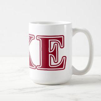 Tau Kappa Epsilon Red Letters Coffee Mug