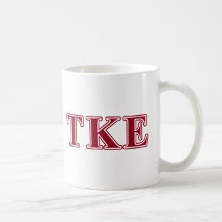 Tau Kappa Epsilon Red Letters Coffee Mug