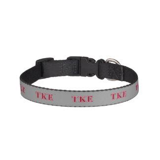Tau Kappa Epsilon Red Letters Dog Collar