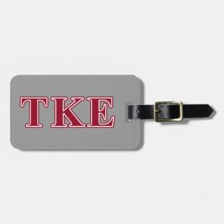 Tau Kappa Epsilon Red Letters Luggage Tag