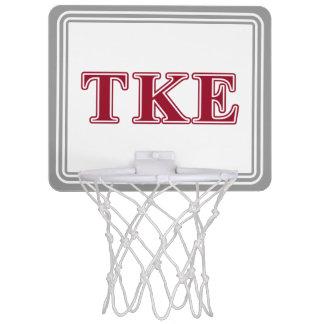 Tau Kappa Epsilon Red Letters Mini Basketball Hoop