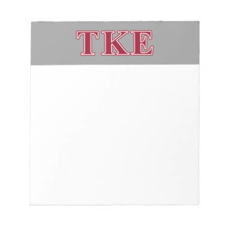 Tau Kappa Epsilon Red Letters Note Pads
