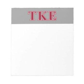 Tau Kappa Epsilon Red Letters Notepad