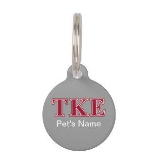 Tau Kappa Epsilon Red Letters Pet Tag